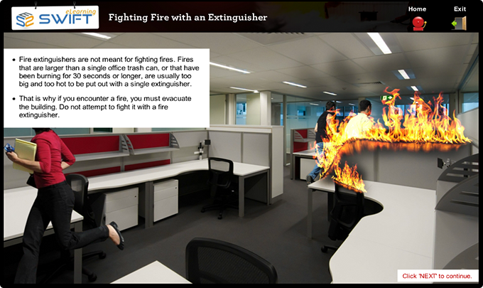 Fighting-fire-with-extinguisher