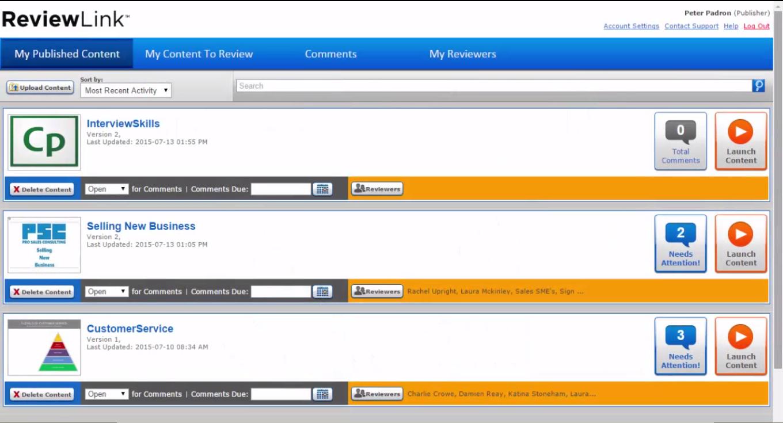 Lectora ReviewLink Screenshot