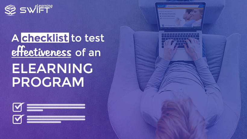 How to measure effectiveness of an eLearning Program? Here is a checklist!