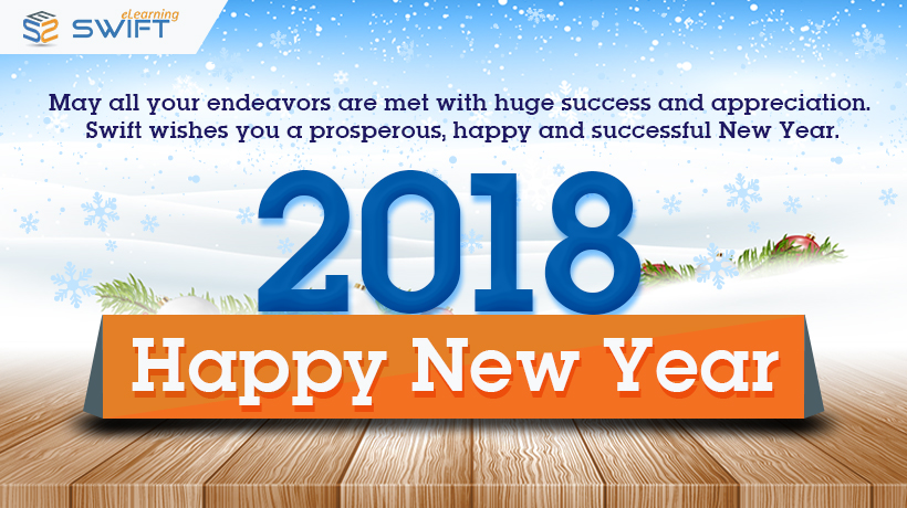 Swift eLearning wishes a Happy New year 2018