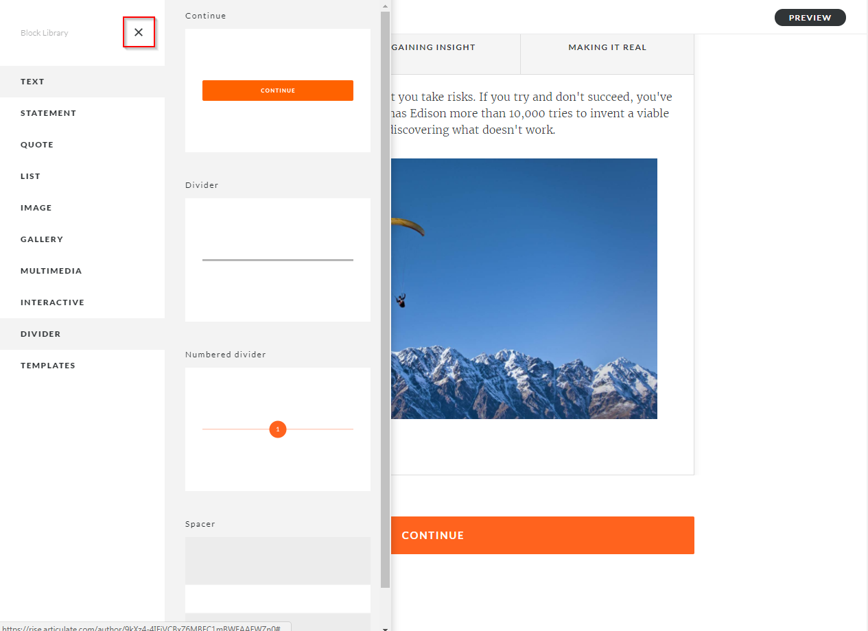 Articulate Rise How to configure Storyline block completion_4