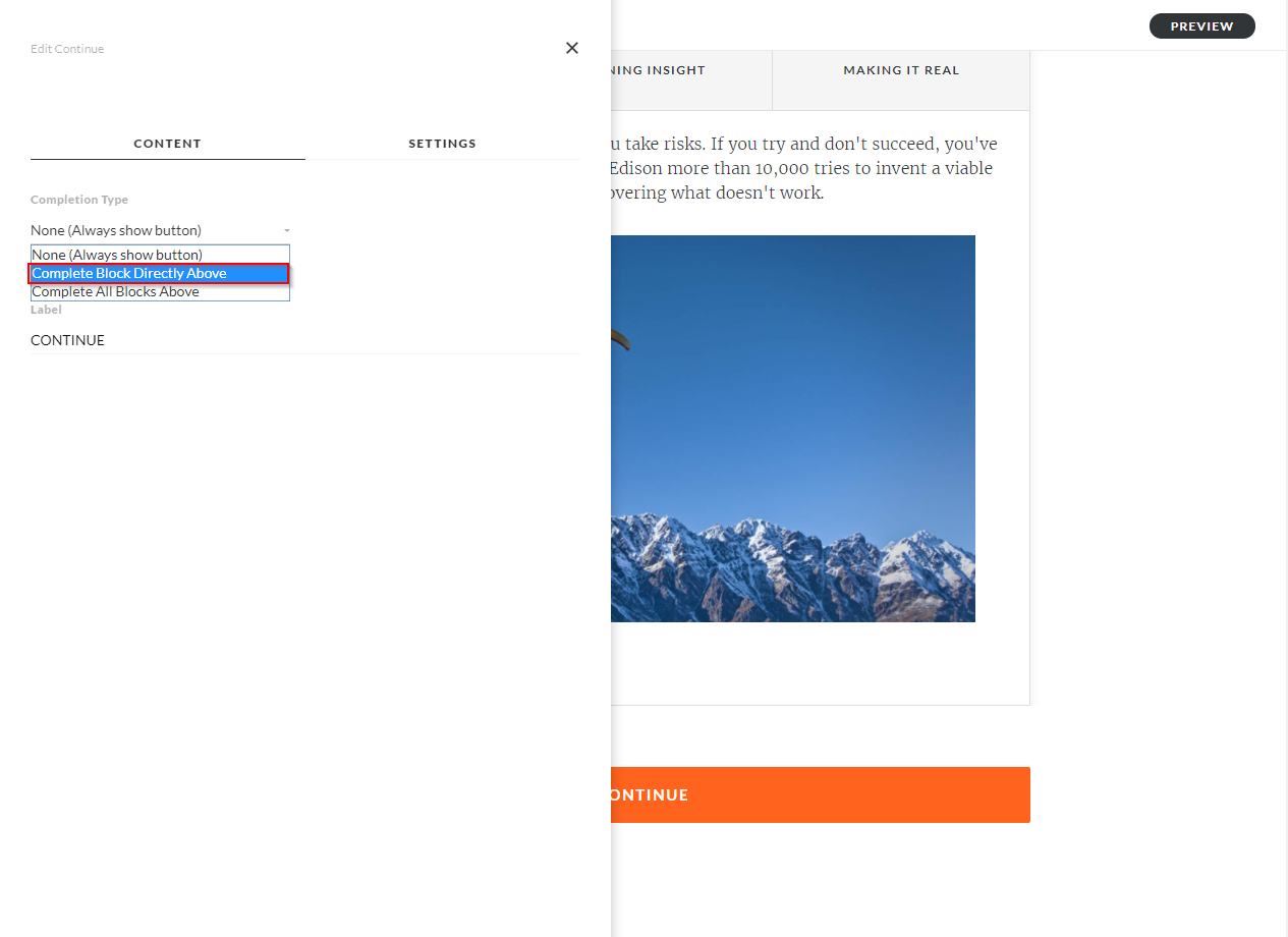 Articulate Rise How to configure Storyline block completion_6