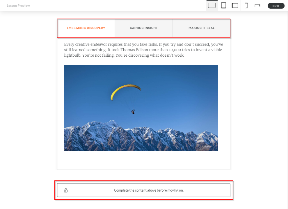 Articulate Rise How to configure Storyline block completion_8