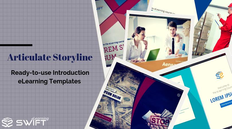 Custom eLearning development – Introduction screen Templates