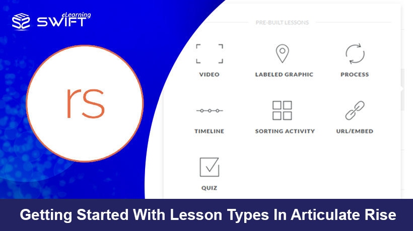 Build a responsive course using pre-built Lesson Types in Articulate Rise