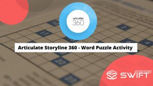 Articulate Storyline 360 - Word Puzzle activity
