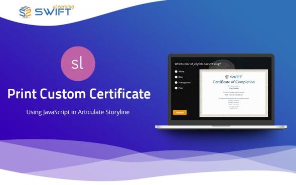 Print Custom Certificate using Javascript in Articulate Storyline
