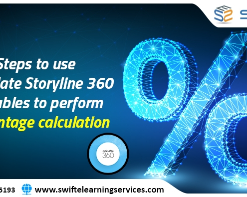 Steps to use Articulate Storyline 360 Variables to perform percentage calculation