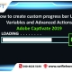 How to create custom progress bar Using Variables and Advanced Actions - Adobe Captivate 2019