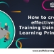 How to create an effective Online Training Using Adult Learning Principles