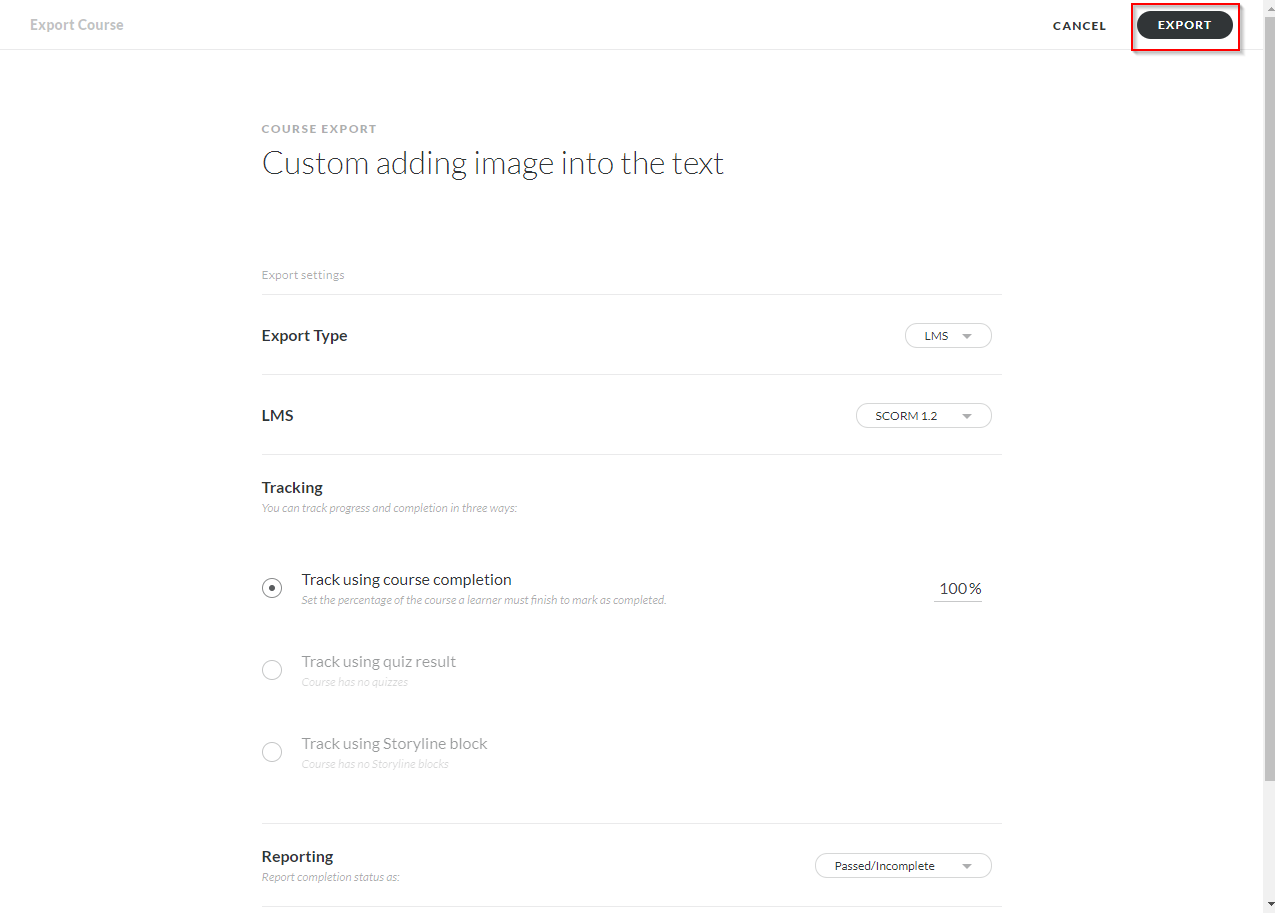 adding custom image into the text - articulate rise 05
