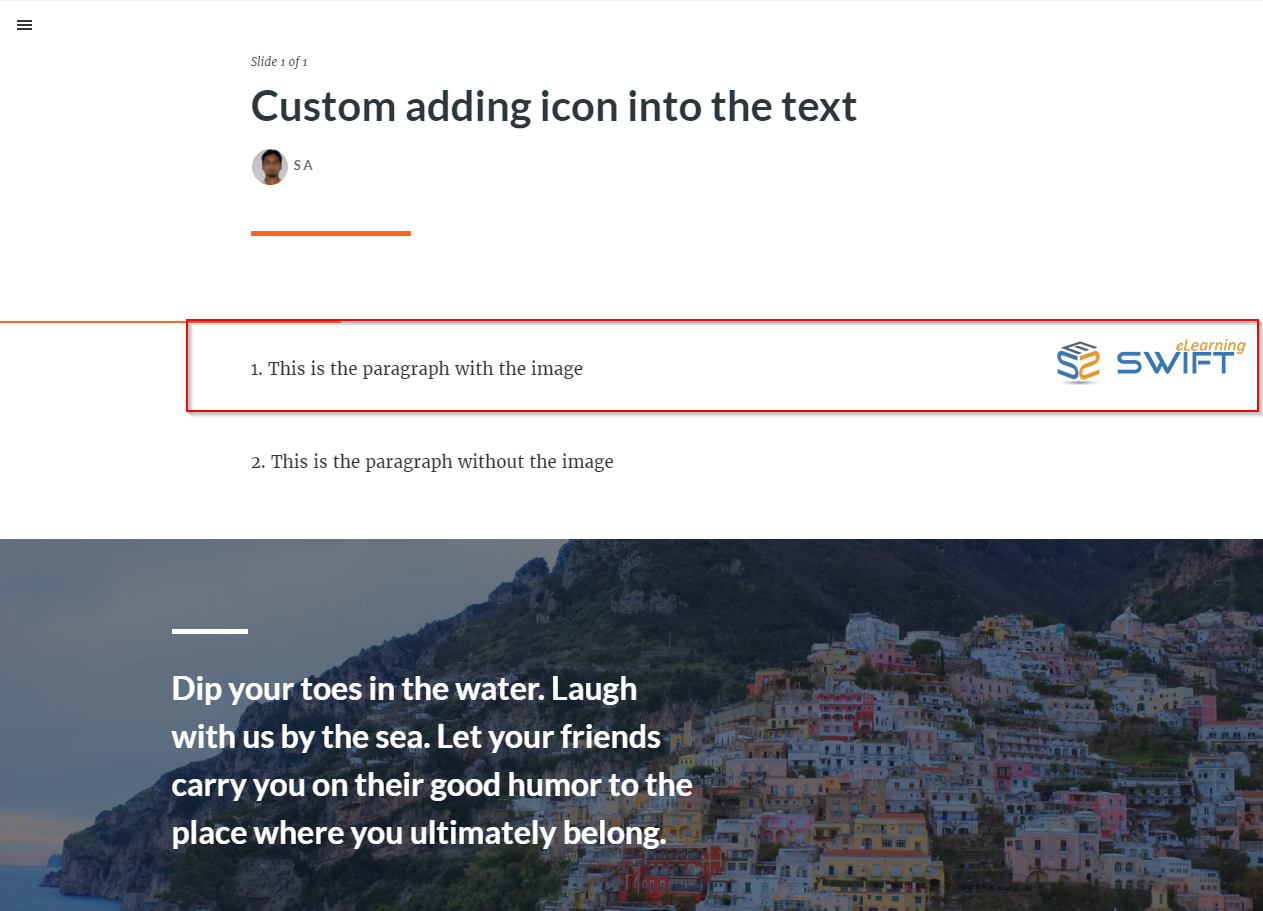 adding custom image into the text - articulate rise 12