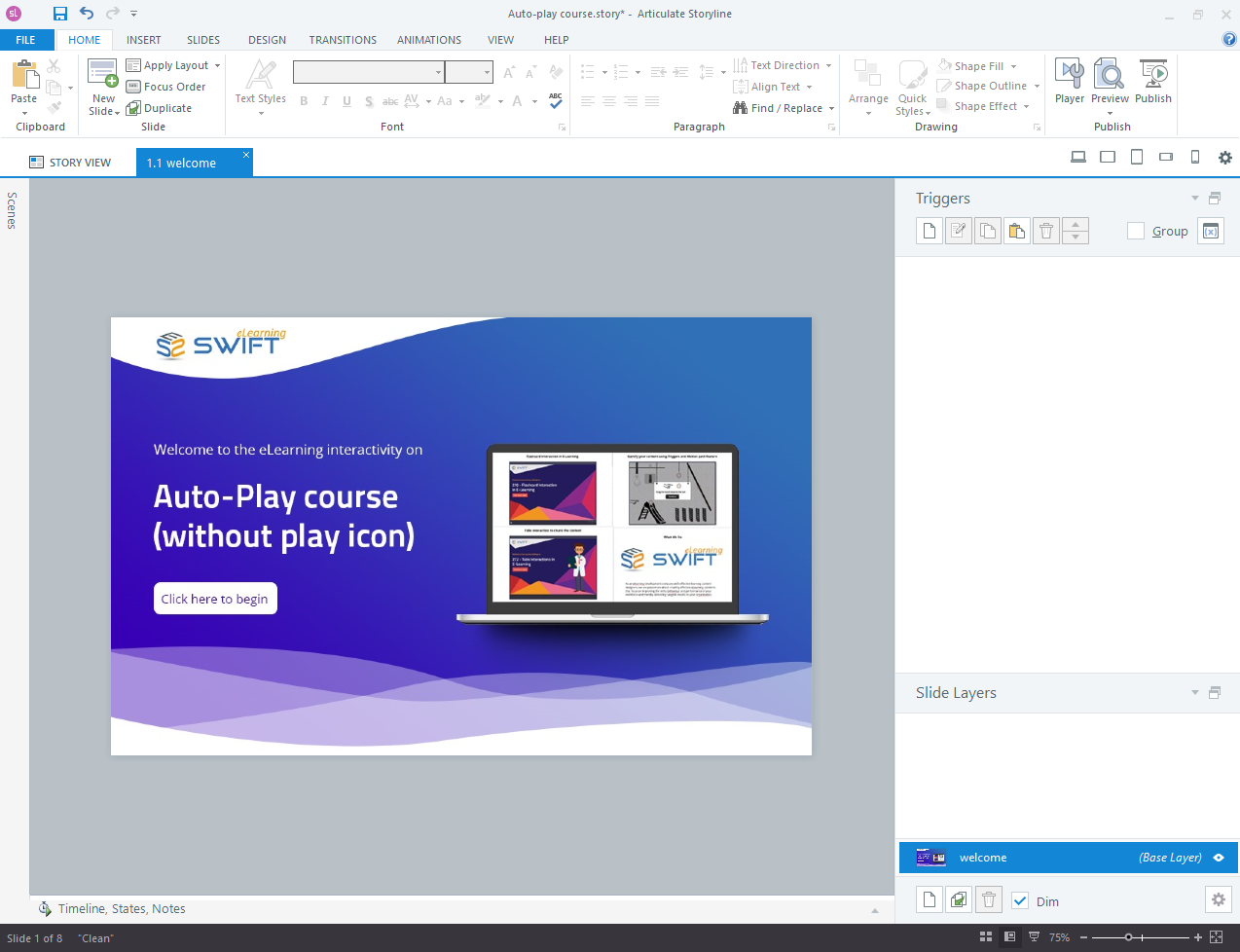 auto-play course step 01