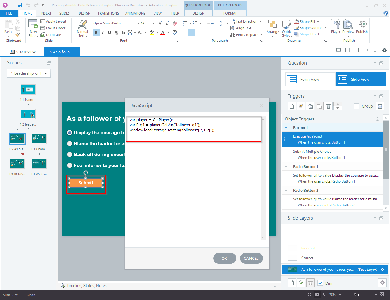 Articulate Storyline 360 to Articulate Rise Blocks 6