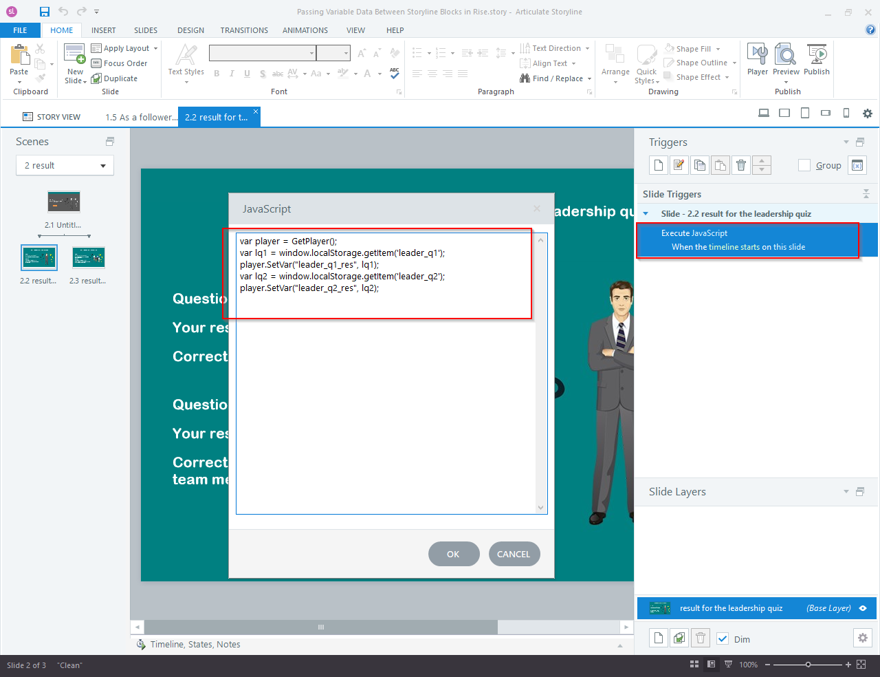Articulate Storyline 360 to Articulate Rise Blocks 7