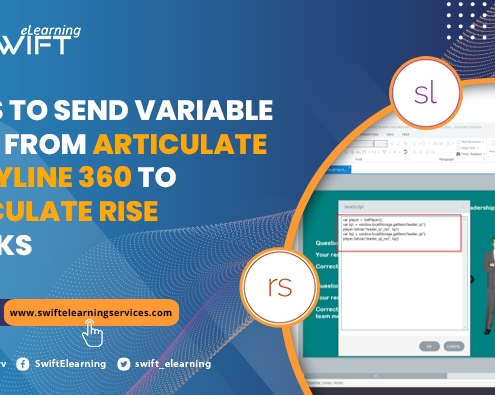 how send variable data from storyline to articulate rise blocks