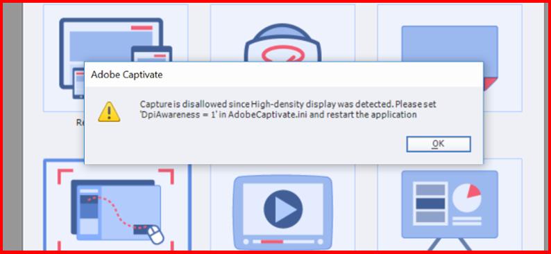 Adobe Captivate in High-Density screen